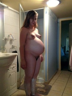 Hot photos of my young pregnant wife..