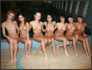 Young naked girls swimming congratulate