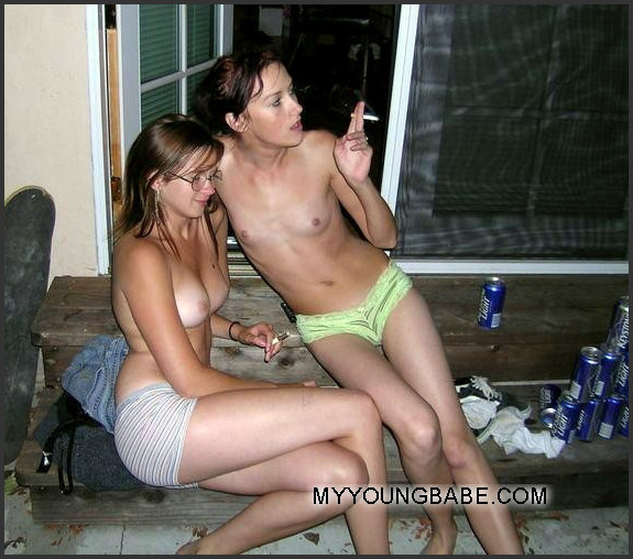 drunk nude party babes